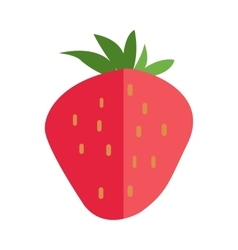 Strawberries In Flat Style vector