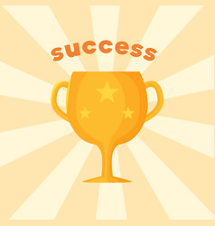 success template of prize vector image