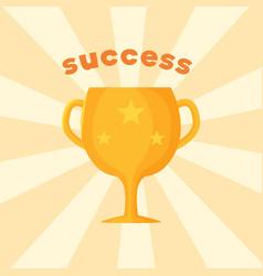 Success template prize vector