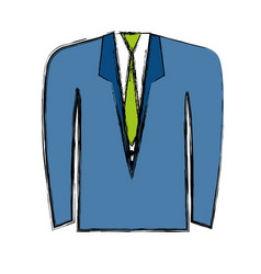 Suit and tie icon vector
