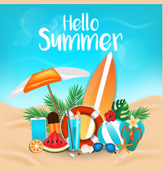 summer background 2018 3 vector image