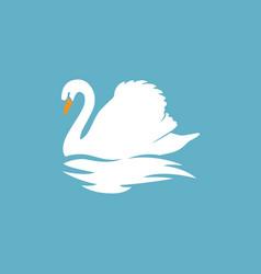 Swan logo sign emblem-13 vector