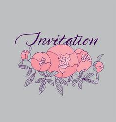 tender pink peony flower bouquet vector image