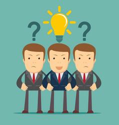 Three hard thinking men vector