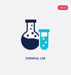 Two color chemical lab icon from general-1 vector