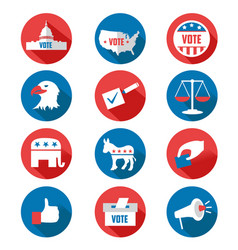 usa presidential election icons vector image