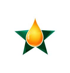 water drop logo design template liquid droplet vector image