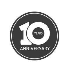 Years 10 anniversary sticker 10th year vector image