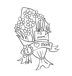 flower for mother day collection vector image vector image