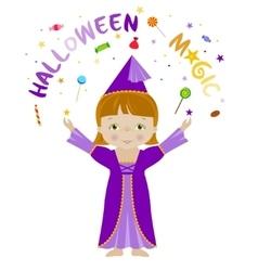 Halloween magic cartoon vector image