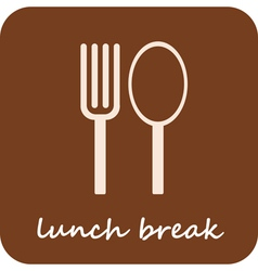 Lunch break - isolated icon on light-brown backgro vector