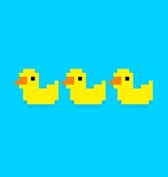 Pixel Ducks vector image vector image