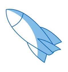 rocket start up launch innovation vector image vector image