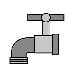 water tap metal icon vector image