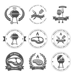 Barbecue party and grill party emblems vector