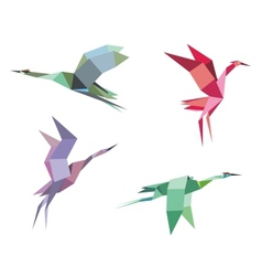 Cranes and herons vector image vector image