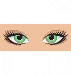green eyes vector image vector image