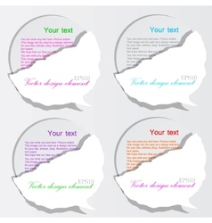 paper bubble speech vector image vector image