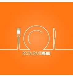 plate fork knife design background vector image vector image