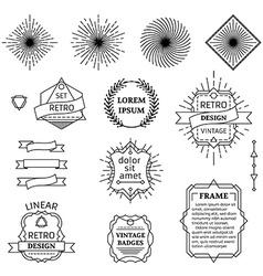 set of linear design elements vector image vector image