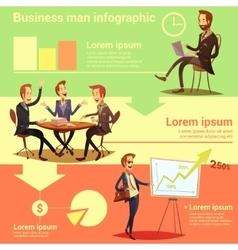 Businessman Infographic Set vector image vector image