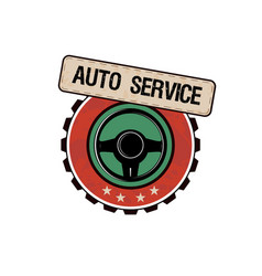 car service labels vector image
