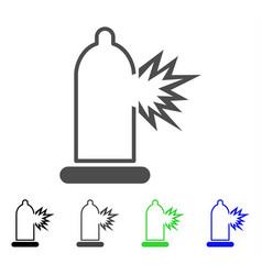 condom damage icon vector image