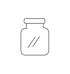 Dotted shape glass and crystal jar object to save vector