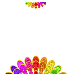 multicolored abstract floral mandala design vector image vector image
