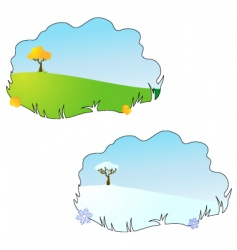 season autumn and winter vector image vector image
