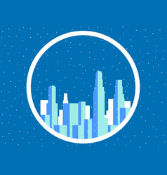 winter city with skyscrapers snow-covered vector image vector image