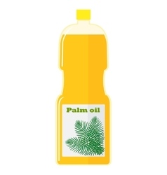 A bottle with palm oil vector