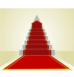 Beginning the road to success on the career ladder vector