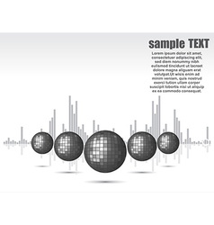 disco ball background for party vector image