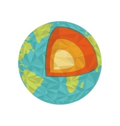 Earth icon Planet design graphic vector image vector image
