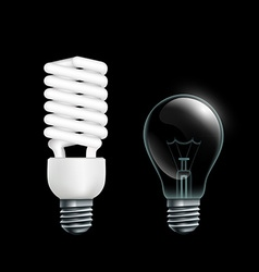 Electric lamps Stock vector image vector image