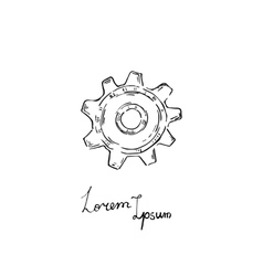 gear icon Doodle style vector image