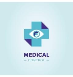 Medic cross logo template vector image vector image