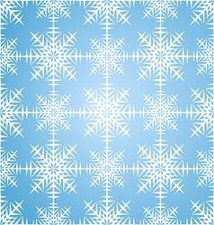 Seamless pattern snowflakes winter set vector