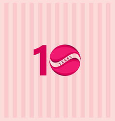 10 years anniversary celebration candy model vector