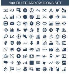 100 arrow icons vector
