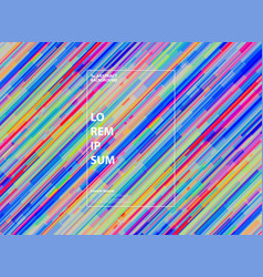 abstract colorful stripe line pattern design vector image