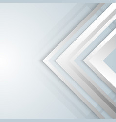 Abstract geometric white and gray arrow shine vector