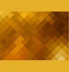 abstract golden square ornament vector image