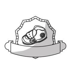 baby shoe icon vector image