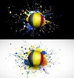 Belgium flag with soccer ball dash on colorful vector