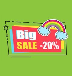 Big sale - 20 percent off super price colorful vector