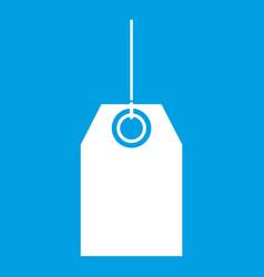 Black tag icon white vector