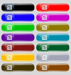 book newspaper icon sign Big set of 16 colorful vector image