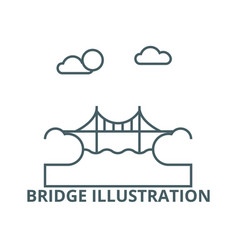 bridge line icon bridge vector image